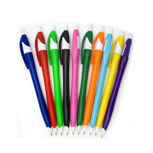 Custom Plastic plunger action ballpoint pen