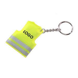 Reflective Safety Vest Key Chain