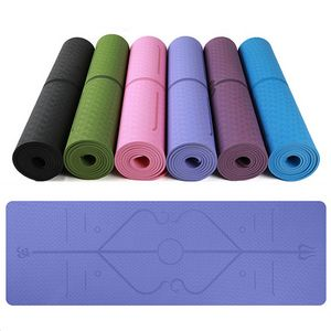 Custom Body Position Line Yoga Mat