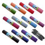 Custom PVC 6mm yoga mat with carrying bag