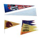 Triangle Shape Felt Signal Pennants Flag with Flagpole