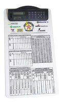 Legal Size Clipboard w/ Dual Power Calculator/ Clock Clip
