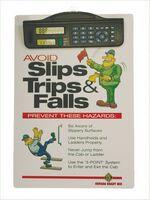 Letter Size Clipboard w/ Dual Power Calculator/ Clock Clip