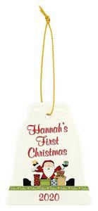 Custom Imprinted Bell Shaped Porcelain Ornaments!
