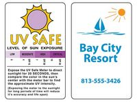 UV/Sun Exposure Safety Monitoring Card