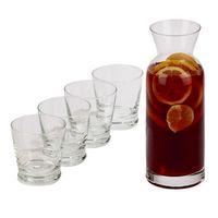 Carafe & 4 Glasses Serving Set with Custom Sandblasting