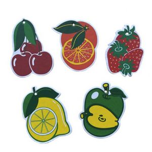 Fruit Shape Scent Paper Car Air Freshener