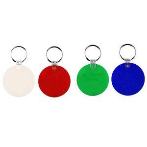 Round Plastic Keychain Key Tag