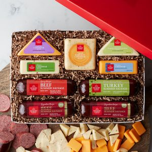 Hickory Farms® Simply Sausage & Cheese Duo Gift Box - 8444 - IdeaStage Promotional Products