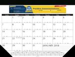 Custom Non-Padded Holder Imprinted Sheet Desk Pad Calendar w/2-Vinyl Corners