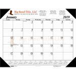 Custom Padded Holder Desk Pad Calendar w/Imprinted Sheets