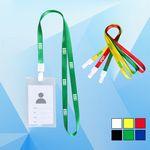 Custom No-twist Lanyard Hook w/ Badge Holder