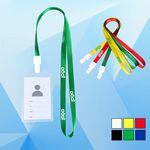 Custom PVC ID Holder w/ 3/8'' Wide Lanyard