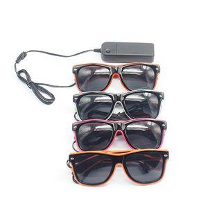 LED Neon Lighting Luminous Sunglasses