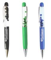 Liquid float ballpoint pens