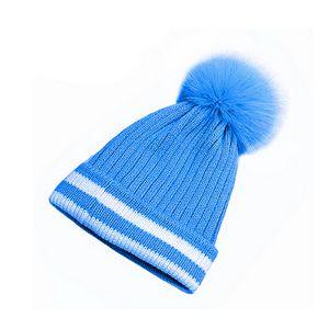 Pointed Pom Knit Beanie