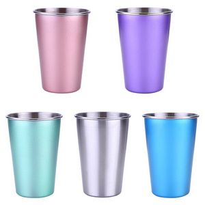 17 OZ Single Wall Stainless Steel Cold Water Drinking Cup