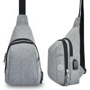 Custom Portable LED UV Sling Shoulder Chest Bag