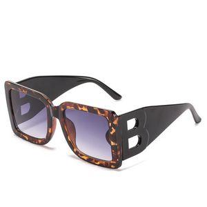 Oversized Big B Man Rectangle Sunglasses