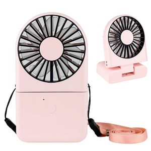 1800 mAh Rechargeable USB Foldable Fan with Power Bank
