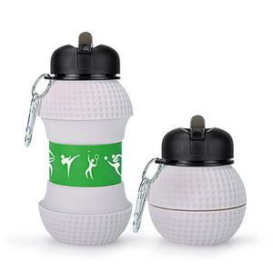 17 oz Golf Ball Shape Collapsible Sports Water Bottle