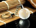 LED Crystal Ball Keychain
