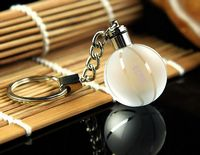 LED Crystal Ball Keychain