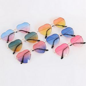 Heart Shape Vintage Retro Metal frame Sunglasses