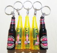 Bottle Shape Projector Keychain w/Light
