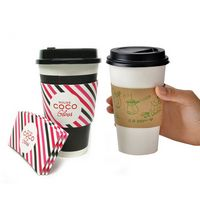 Insulated Paper Cup Sleeve (Large qty)