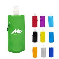 Foldable 16oz Water Bottle with Carabiner