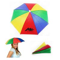 Outdoor Fishing Rainbow Umbrella Hat
