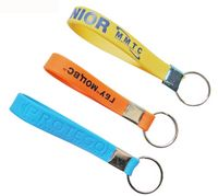 Printed Silicone Keychain W/ Ring