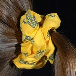 Custom Broadcloth Hair Scrunchie with Allover Print