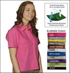 Custom Tiger Hill Ladies' Poly/Cotton Short Sleeve Fishing Shirt