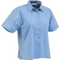 Tiger Hill Ladies' Poly/Cotton Poplin Short Sleeve Shirt
