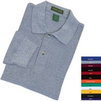 Tiger Hill 100% Cotton Heavy Pique Polo Long Sleeve