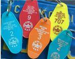 Custom Plastic Hotel Keychain Motel Key Tag