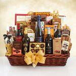 Custom California Grandeur Wine & Gourmet Gift Basket