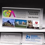 Custom Laser Engraved Cube Award (2 1/2
