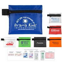 10 Piece Hand Sanitizer First Aid Kit in Zipper Pouch