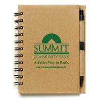 """""""Cruze"""" Larger Size Recycled Jotter Notepad Notebook w/Recycled Paper Pen (Overseas)"""