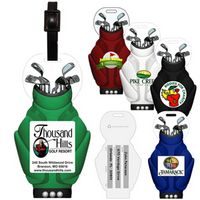 Stock Shape Golf Bag Luggage Bag Tag