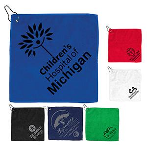 300 GSM Microfiber Golf Towel w/ Metal Grommet & Clip