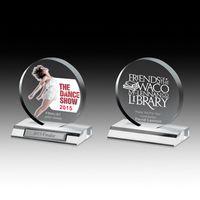 "Clear Circle Award w/4-Color Process (5""x 5 1/2""x 3/4"")"