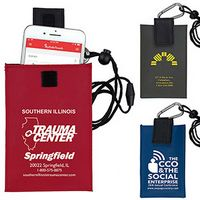 """Angel"" Cell Phone & ID Holder Wallet w/ Carabiner & Breakaway Safety Lanyard (Overseas)"