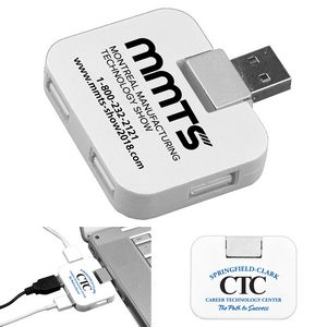 """Quadraport"" 4 Port Mini USB 2.0 Hub (Overseas)"
