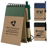 """Arcata"" Recycled Jotter Notepad Notebook w/Matching Recycled Paper Pen (Overseas)"