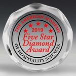 Custom Scalloped Edge Round Acrylic Paperweight Award w/4-Color Process (4
