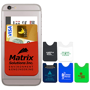 Bankers Soft Silicone Cell Phone Wallet
